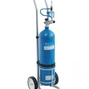 Баллон кислородный с тележкой для транспортировки 10 л.